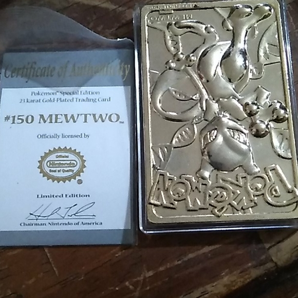 Pokemon #150 Mewtwo limited edition